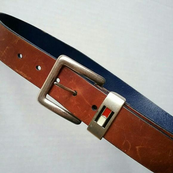 Tommy Hilfiger Other - Tommy Hilfiger Brown Leather Belt Size 30 Made in